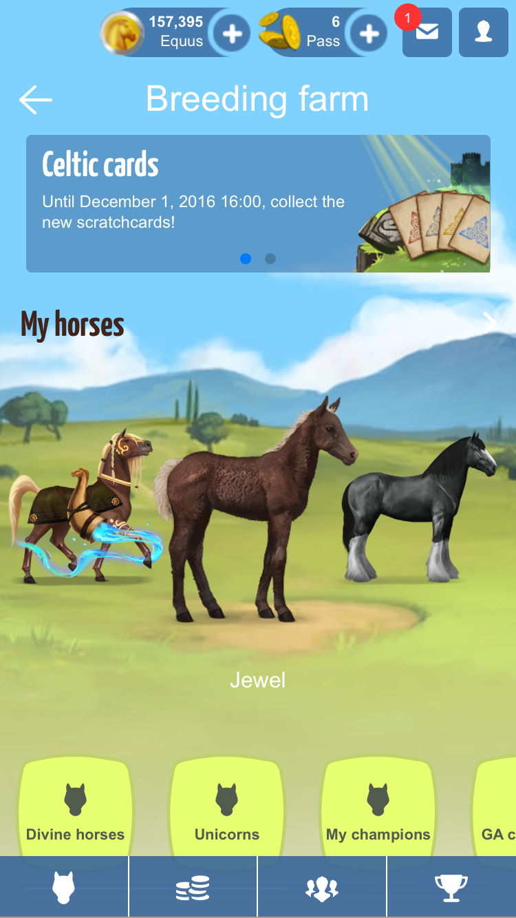 Howrse Mobile Version